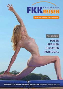 Elke on the cover nudist travel