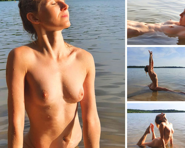 Naked Yoga in the water